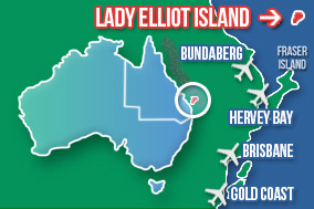 Lady Elliot Island Map